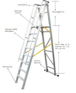 3.5m Aluminum Alloy Folding-Platform and Step Ladder pictures & photos