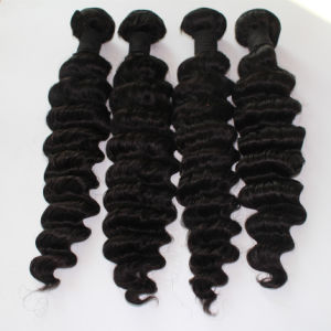 8A Brazilian Unprocessed Virgin Hair Deep Wave Hair Extension pictures & photos