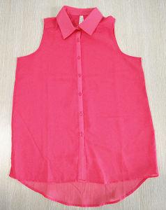 Women Fashion Clothes Chiffon Loose Leisure Sleeveless Blouse Shirt pictures & photos
