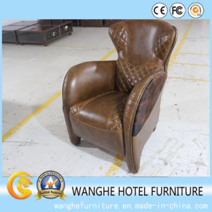 Brown Leather Living Room Furniture Dining Single Chairs pictures & photos