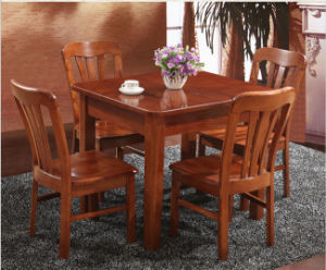 Solid Ash Wood Dining Table with Expandable Top pictures & photos
