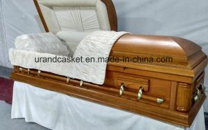 Solid Oak Ivory Velvet Interior Casket