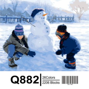 Christmas Gift by Numbers Painting, Digital Painting pictures & photos