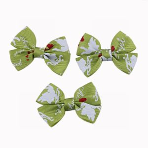 Printed Grosgrain Ribbon Bow pictures & photos