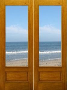 Hot Sales Solid Interior Wood Door with Glass pictures & photos