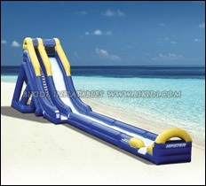 Inflatable Water Slides, Giant Beach Slide with Wooden Stairs, Hippo Slide pictures & photos
