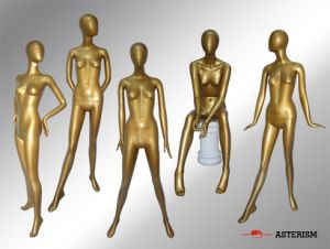 Fashion Mannequin in Golden Color