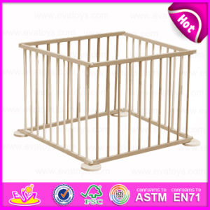 2015 Folding Wooden Safety Playpen, Wooden Baby Furniture Baby Playpen Wooden, Hot Selling Wooden Square Playpen for Baby W08h008 pictures & photos