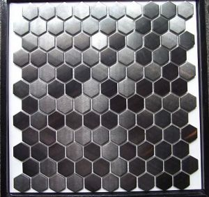 Decovation Hexagon Stainless Steel Metal Mosaic pictures & photos