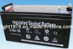 12V 120ah Lead Acid Battery for UPS, Solar Lighting pictures & photos