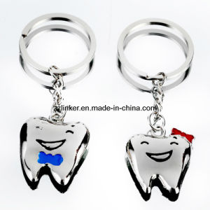 Dental Gift Tooth Shaped Key Chain/OEM Teeth Key Chain/Teeth Couple Key Chain pictures & photos