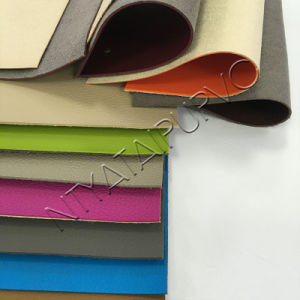Anti-Hydrolysis PVC Leather for Upholstery Sofa Chairs with Good Quality Leatherette pictures & photos