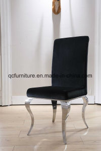 Black Fabric Stainless Steel Leg Dining Chair pictures & photos