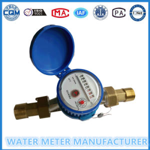 Brass Body Water Meter with Brass Connectors pictures & photos