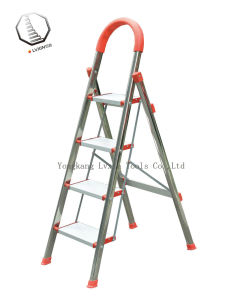 4 Steps Stainless Steel Household Ladder pictures & photos