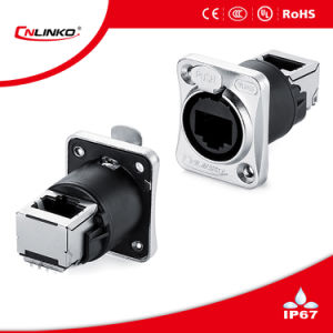 High Data Rate Push Pull Mating Design CAT6 Receptacles pictures & photos