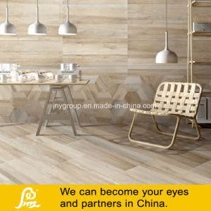 Wooden Khaki Porcelain Floor Tiles with Digital Printing pictures & photos