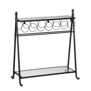 Factory Wholesales Metal Display Shelf with Wine Bottle Rack Furniture pictures & photos