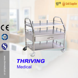 Medical Stainless Steel Trolley (THR-B023) pictures & photos