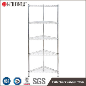Knock Down Style 5 Tiers Metal Chrome Bathroom Corner Wire Rack pictures & photos