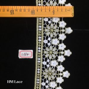9cm Organza Lace Fabric, Circle Flowers Embroidery, Fashion Design Wedding Lace Supplies Hme884 pictures & photos