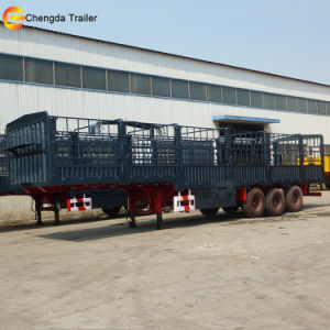 3 Axle Cargo Stake Semi Trailer for Sale pictures & photos