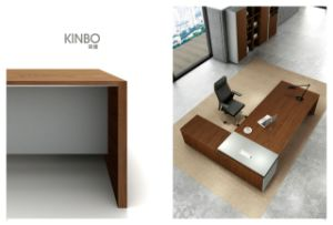 Office Furntiure Veneer U Shaped Executive Desk with Hutch