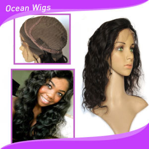 Hot Selling 100% Human Brazilian Hair Body Wave Front Lace Wig pictures & photos
