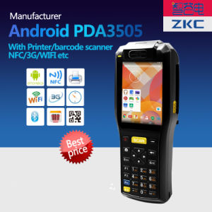 Zkc3505 3G WiFi NFC/RFID GPRS Scangle Handheld Rugged PDA with Built-in Printer pictures & photos