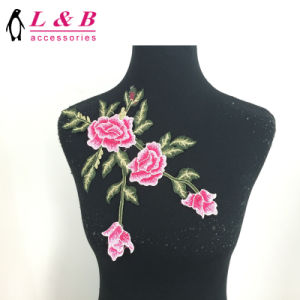 Hot Sale Multicolor Lace Flower Applique Sewing on Patch pictures & photos