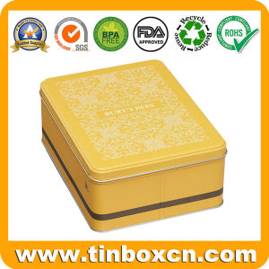 Food Grade Custom Rectangular Kitchen Storage Box Metal Tins pictures & photos