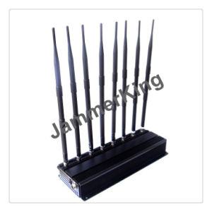 New 8 Band High Output Power 4G WiFi GPS Jammer with Car Charger, 8 Antenna 4G Lte CDMA 3G GSM GPS WiFi VHF UHF Walk Talkie Cellular Jammer pictures & photos