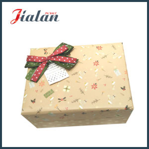 Custom Logo Printed Ribbon Bow Cardboard Packaging Paper Wedding Box pictures & photos