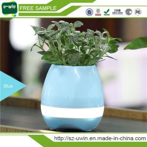 Magic Bluetooth Speaker Flowerpot Smart Music Plastic Flowerpot with LED Light pictures & photos