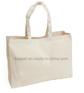 Promotional Custom Stitching Sewing Cotton Tote Shopping Bag pictures & photos