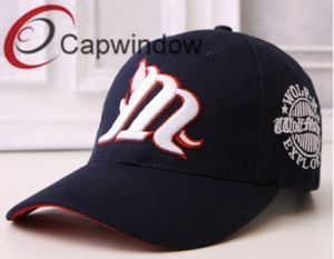 Black Flat and 3D Embroidery Fashion Leisure Sport Baseball Cap pictures & photos