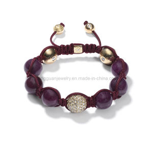 Xg-Yk41 10mm Crystal Beads with Crystal Shamballa Bracelet