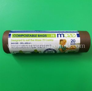 Corn Starch Fully 100% Biodegradable Compostable 7L Garbage Bag pictures & photos