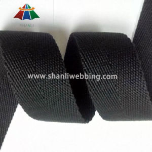 38mm Black Polyester Cotton Herringbone Webbing pictures & photos