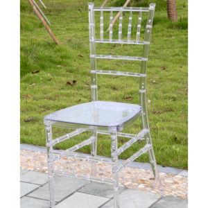 Plex Glass Clear Resin Tiffany Chair with Cushion pictures & photos