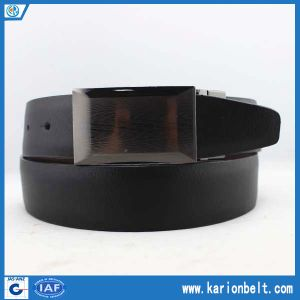Reversible Belt with Gun Metal Graphite Plaque Buckle (35-13103)