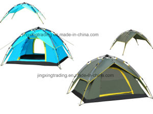 3 - 4 Persons Waterproof Double-Skin Automatic Camp Tent (JX-CT023-4) pictures & photos