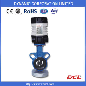 CE CSA RoHS Approved Electric Actuated Butterfly Valve pictures & photos