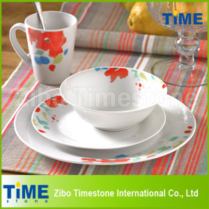 16PC Porcelain Decal Dinnerware Set (616048) pictures & photos
