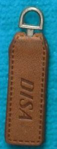 Brown Debossed Leather Zipper Puller Design pictures & photos