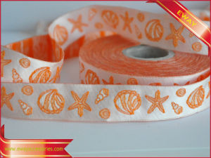 Satin Ribbon Tape Polyester Jacquard Woven Clothing Tape pictures & photos