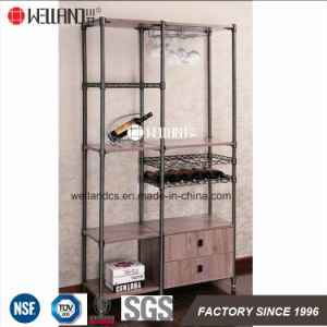 2017 New Design Adjustable Wine Storage Steel-Wooden Furniture pictures & photos