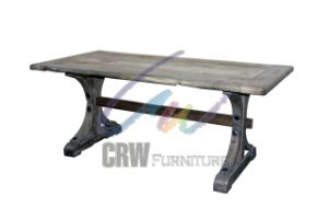 Reclaimed Aged Elm Wood Dining Table for Restaurant (AF-118) pictures & photos