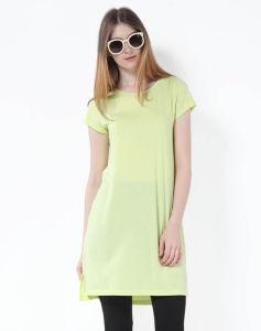 Design Women′s 95% Rayon 5% Spandex T Shirt Dresses pictures & photos