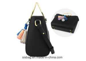 Personality Hand Ring Tote Bag PU Tassel Shoulder Bag pictures & photos
